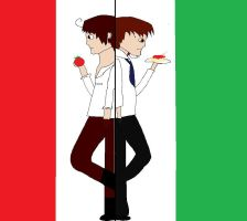 Two parts of Italy (APH) by lollimewirepirate