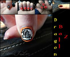 Dragon Ball Z Nails by TheWorldIsLove