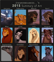 .2015 Art summary. by EyesInTheDark666