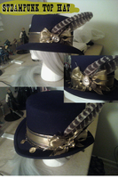 SteamPunk Top Hat by Bluefox13