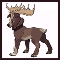 Forest DogMoose - Auction by FourDirtyPaws