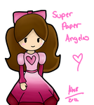 SUPER PAPER ANGELA XD by Angelwing8