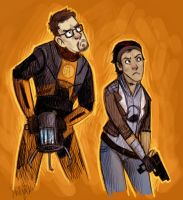 Gordon and Alyx idk by SIIINS