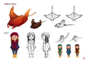 Maplefish Character Designs by Eminina