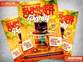 Summer Cookout Party Flyer Template PSD by Industrykidz