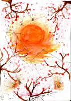 Watercolor: A Sunset by Cupikagi