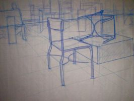 Blue Chair Study by Pomegranate-Pen