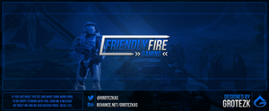 Friendly Fire Gaming -Twitter Header by AlexSotoDesign