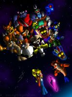 Crash Bandicoot 1st generation by DSA09