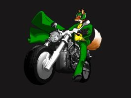 Hyper Rob on his Motorbike by MrHades
