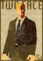Two Face Minimal Poster by GTR26