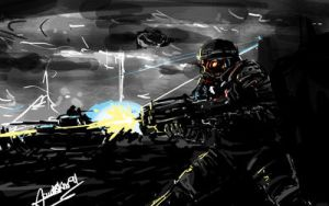 Killzone -30 min painting - by faustsketcher
