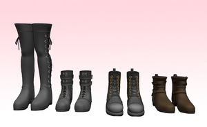 MMD HQ boots pack by amiamy111