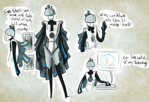 Contest Entry: Camile the robot data thingie by 0SkyKat0