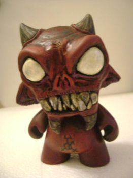 Red Imp Munny by jonathanscarecrow