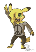 Meadow the Pikachu by GoldFlareon