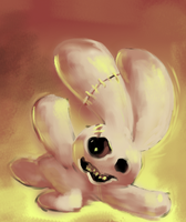 Speed Paint 001- Zomb-rabbit by talentlessfiend