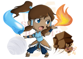 Korra the Chibi Avatar by Sakura-Rose12