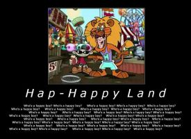 De-motivation Hap-happy Land by sparky-the-raichu