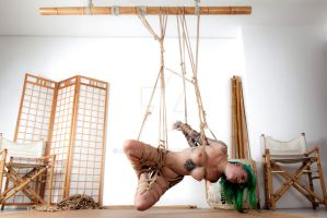 Bliss, in suspension 2/3 by ropemarks