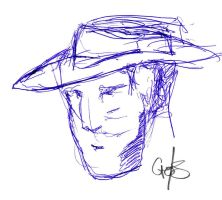 Character sketch with hat by TripAddict