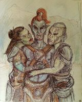 Hug Your Favourite Dunmer by BlueOakRogue
