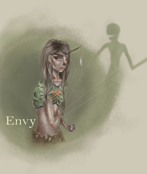 seven deadly sins-Envy by CleosCreations