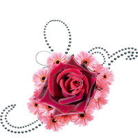 flowers and black pearls png by Melissa-tm