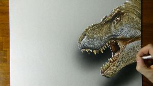 Scary T rex by marcellobarenghi