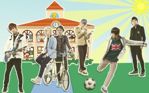 TEEN TOP in school by roth1004