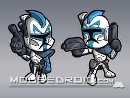 Commission - Star Wars Clones by MattMoylan
