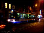 . Tram at night . by KimikoTakeshita