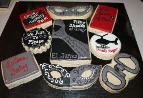 Assorted Fifty Shades of Grey Cookies by picworth1000wrds