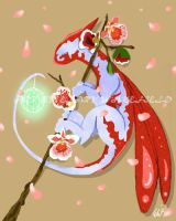 Japanese Flower Dragon by Reveta