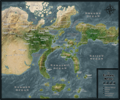 Elemental Nations Geographical Map by xShadowRebirthx