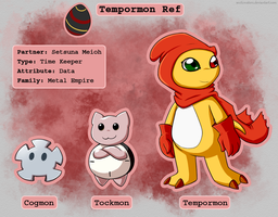 Tempormon - Digimon of Pluto by Arcticwaters