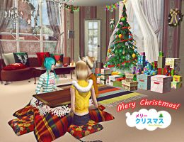 -VOCALOID- Merry X-Mas: Sims 2 by NegativeDanna