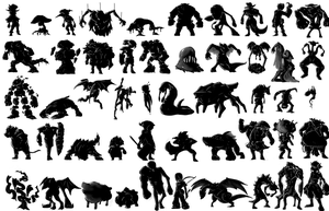 Coursework - 50 Character Silhouettes by SamDeSamD