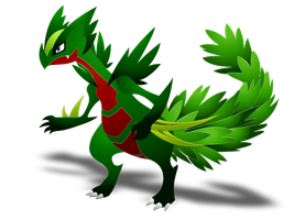 Mega Sceptile by darkheroic