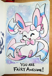 160325 Fairy Awesome Sylveon by fablefire