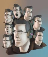 Mark's many faces by SupremacyRain