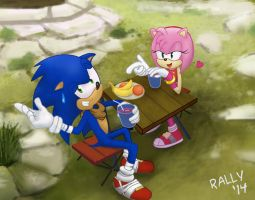 Sonic Boom Lunch Break by Rally-the-Cheetah