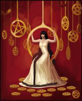 Priestess of Pentacles by NibrasI