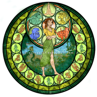 Jane - Kingdom Hearts Stain Glass by reginaac57