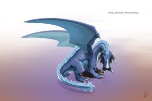 Steel Dragon - DragonVale fanart by real-k