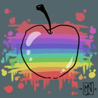 Apple and colors by Kattvalk
