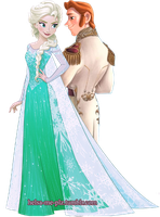 Elsa and Hans Together by inspired-flower