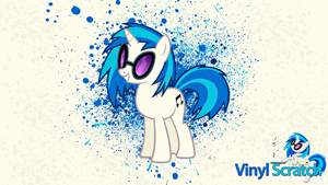 Vinyl Scratch Ink Splatter Wallpaper by alanfernandoflores01