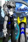 Slain The Hedgehog - Style Sonic Riders By Collen by Andresitum