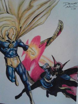 dr. fate vs dr. strange by artkid01